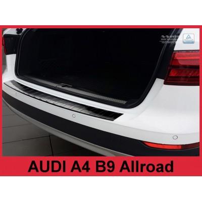 Edelstahl Ladekantenschutz AUDI A4 B9 Avant ALLROAD Schwarz
