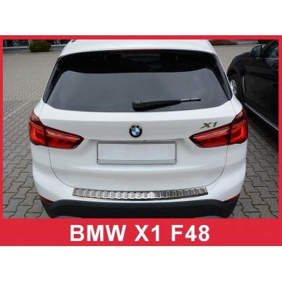Edelstahl Ladekantenschutz für BMW X1 F48