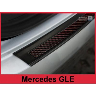 Carbon Ladekantenschutz MERCEDES GLE COUPE Spiegel / Rot