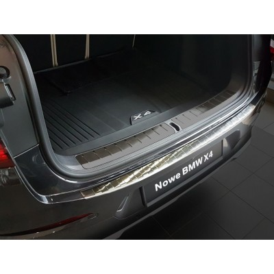 Edelstahl Ladekantenschutz Stoßstangenschutz BMW X4 G02