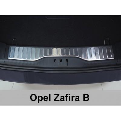 Edelstahl Ladekantenschutz Opel Zafira B Stoßstangenschutz